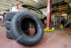 100 Tire By Mark This Photo Made New Goodyear Tires Sit Editorial Stock Photo