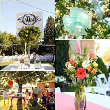 Backyard Wedding Reception Ideas New Bright And Colorful Rustic Chic