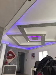 plafond placo design relief led ceiling design false