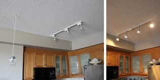 Kitchen Track Lighting Before After
