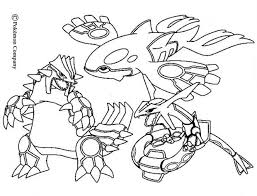 Line Drawings Online Color Pages Pokemon At Battles Coloring Groudon Raykaza And Kyogre