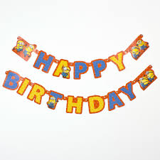 Minion Happy Birthday Letter Banner Only £229