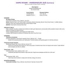 High School Students Resume