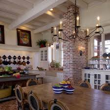 Dining Room Large Brick Chimney Design Pictures Remodel Decor And Ideas