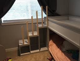 Pet Stairs For Tall Beds by Kura Bunk Bed Hack For Two Toddlers Ikea Hackers Ikea Hackers