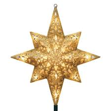 Bethlehem Lights Christmas Tree Instructions by Ge Holiday Classics 11 In 16 Light Gold Glittered Bethlehem Star