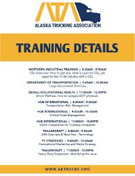 100 Alaska Trucking Association Trainings