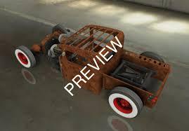 3D Model Rat Rod Pickup - TurboSquid 1163497