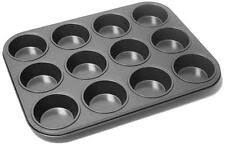 12 Deep Cup Muffin Non Stick Fairy Cake Tray Tin