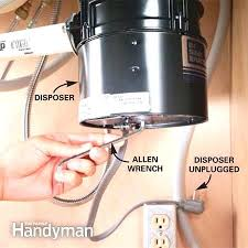 garbage disposal unit sink kitchen unclog clogged drano