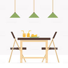 Dining Room Vector Clipart Table