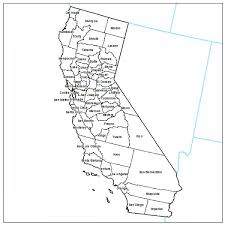 Printable California County Map With Cities Maps Of