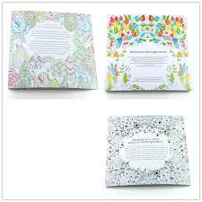100PCS LOT English Edition Secret Garden Fantasy Dream Animal Kingdom Coloring Book Adults Colouring Each 24 Pages