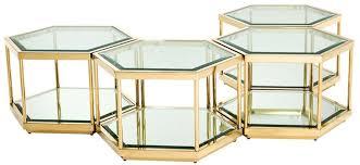 casa padrino luxus couchtisch wohnzimmertisch 4er set gold 60 x 52 x h 36 cm wohnzimmermöbel