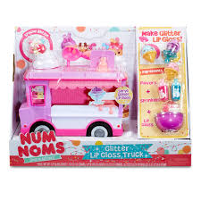 100 Pink Fire Truck Toy Num Noms Glitter Lip Gloss Maker Playset With Scented Glitter