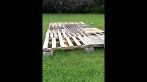 12x16 Shed Kit With Floor by My 10 U0027 X 20 U0027 Pallet Shed The Floor Youtube