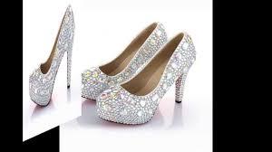 velcans women u0027s rhinestone crystal platform high heels for bridal