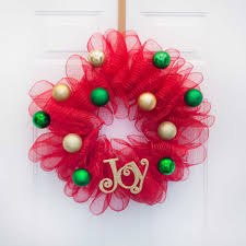Merry Christmas Mesh Wreath
