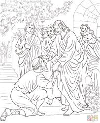 Click The Jesus Heals Leper Coloring Pages To View Printable Version Or Color It Online Compatible With IPad And Android Tablets