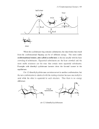 Chair Conformations In Equilibrium by Stereochemistry