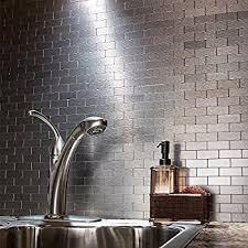 Adhesive Backsplash Tile Kit by Amazon Com Peel And Stick Mosaics Kitchen Tile For Backsplash