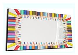 best seller dekoglas glas magnettafel buntstifte mehrfarbig
