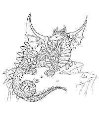 Dragon Coloring Pages For Adults Pictures To Pin On Pinterest