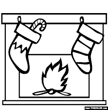 Marvellous Design Coloring Pages Of Christmas Stockings Online Page