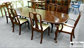 ethan allen dining table chairs used room hutch round set for sale