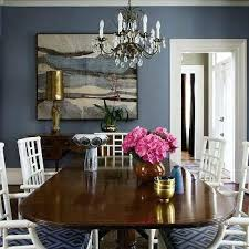 Blue Dining Room Decor Interiors Brown And Design