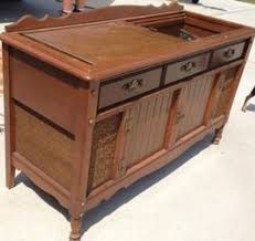repurposed record cabinet