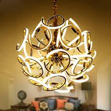 moderne gold luxus metall pendelleuchte amerikanischen kreative led le für wohnzimmer schlafzimmer villa led chip kugel licht
