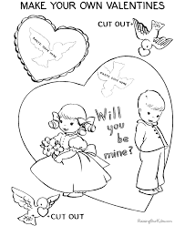 Card Coloring Page Printable Valentine Day