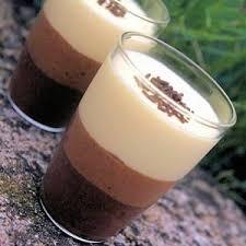 dessert verrines de trois mousses au chocolat alliance le