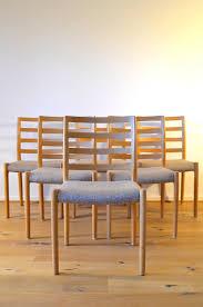 skandinavische vintage esszimmer stühle aus eiche niels otto møller 6er set