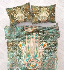 Bed Comforter Set by Hamsa Hand Bed Comforter Set Queen Size U2013 Zen Like Products Com