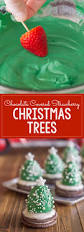Rice Krispie Christmas Trees Recipe by Chocolate Covered Strawberry Christmas Trees Recipe Strawberry