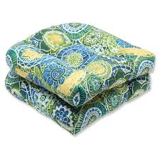 Ebay Patio Furniture Cushions by Amazon Com Pillow Perfect Outdoor Omnia Lagoon Wicker Seat
