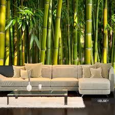 fototapete grünes bambus dickicht
