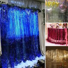 1m 2m metallic foil fringe door curtains tinsel decor for