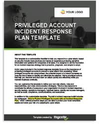 Privileged Account Incident Response Plan Template PDF