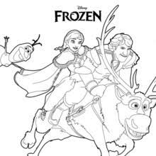 Ana Olaf Kristoff Coloring Page