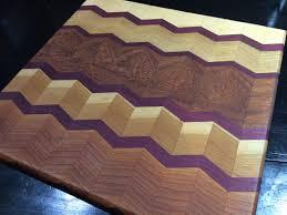 our chevron herringbone design cutting board made with purple