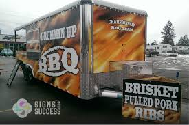 100 Concession Truck Drummin Up BBQ Custom Trailer Wrap Signs For Success