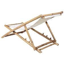 déco chaise longue bambou 112 cm décoration chez decowoerner