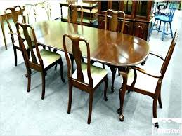 Queen Anne Dining Table Ethan Allen Cherry Room Chairs