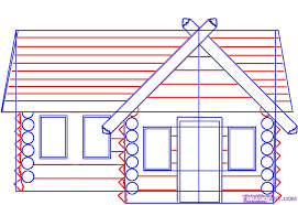 Pin Drawn House Log Cabin 4