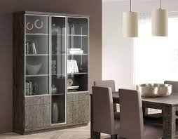 Decoration 3 Door Contemporary Display Cabinet With Glass Doors Thumbnail Modern Dining Room Storage Cabinets