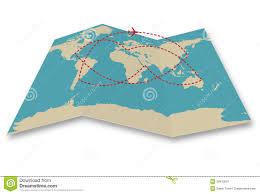 Travel World Map Stock Vector Illustration Of Cartography