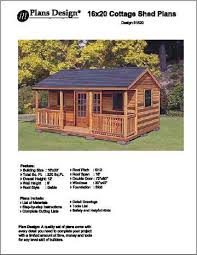 16x12 Shed Material List by 16 U0027 X 20 U0027 Cabin Shed Guest House Building Plans Blueprints